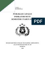 Publikasi Capaian Indikator Mutu Semester i Tahun 2018-1