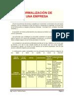 Formalización de Empresa