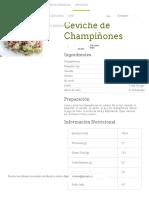 Ceviche de Champiñones