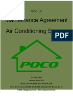 Airconditioning Service Contract