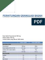 4a. Perhitungan Granulasi Basah