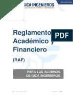 Reglamento Académico y Financiero (RAF)