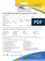 Airconditioning Service Agreement