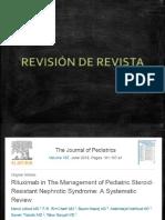 RITUXIMAB Y SINDROME NEFRÓTICO RESUMEN DE REVISTA