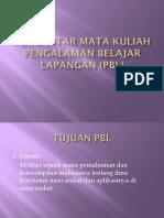 Pengantara Mata Kuliah Pengalaman Belajar Lapangan (Pbl