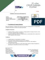 Certificado #203 TODO FRESA Santa Fe