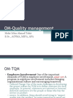 OM Quality Management 8