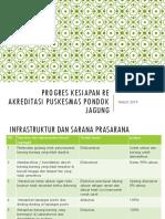 Progres Kesiapan Re Akreditasi Puskesmas Pondok Jagung