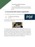 La Economía Del Crimen Organizado