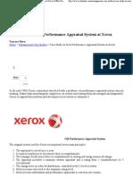 Case Study on New Performan Xerox