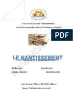 Le Nantissement Finish