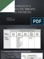 CAPITULO N° 6-1 gestion del tiempo del proyecto-pmbok
