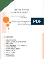 Earth Air Tunnel Heat Exchanger