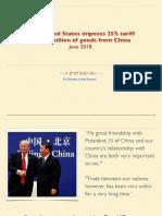 US Tariffs on China June 2018