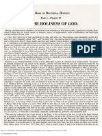20. of the Holiness of God.