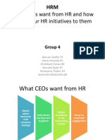 What CEOs want from HR