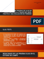 Geologia Aplicada Slug Test Diapositivas