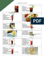 Bebidas de Turismo
