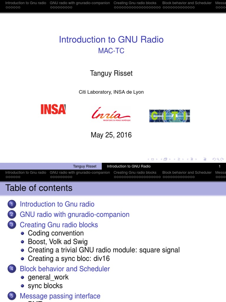 gnuRadioArchitecture pdf | C (Programming Language