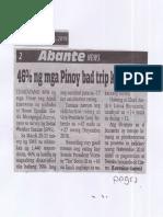 Abante, Apr. 25, 2019, 46% ng mga Pinoy bad trip kay Gloria.pdf