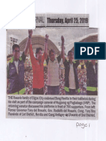 Peoples Journal, Apr. 25, 2019, The Rosario family of Digos endorsed Bong Revilla