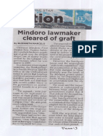 Philippine Star, Apr. 25, 2019, Mindoro lawmaker cleared of graft.pdf