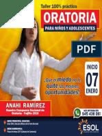 Brochure Oratoria Para Niños y Adolescentes - Huacho