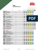 2017 Meinl Percussion Price List