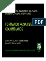 Arq.gloria Aponte Garcia Paisajismo