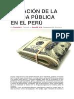 Situación de La Deuda Pública en El Perú