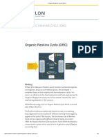 Organic Rankine Cycle (ORC)