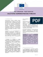 European Semester Thematic Factsheet Quality Public Administration Ro