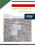 Memoria Descriptiva Mercado Central Metropolitano