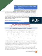 UPSC Mathematics Syllabus – IAS Mains Optional Subjects