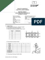 Report Sheet Overhaul Engine