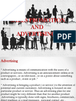 Sales Promotion and Advertising