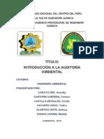 Introducción a La Auditoría Ambiental