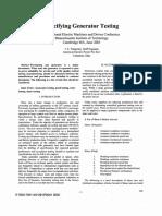 Specifying Generator Testing
