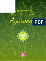 AHC&WS a Beginning Exploration Into Ayurveda