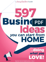 (Beginner Internet Marketing Series) Gundi Gabrielle - 597 Business Ideas You Can Start From Home - Doing What You LOVE! (2017)