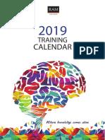 Training Calendar Jan June 2019