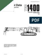 Link Belt TCC1400 Specifications