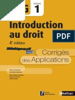 Nathan - DCG UE 1 - Introduction au droit - Manuel & Applications - 4e édition 2016 - Corrigés.pdf