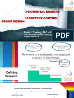 Report on Experimental Designs of Research