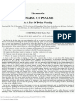 54. a Discourse on Singing of Psalms
