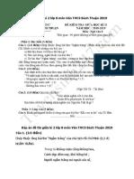 Đề Thi Giữa Kì 2 Lớp 8 Môn Văn THCS Bách Thuận 2019