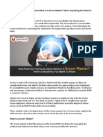 How Much Do You Know About What is a Scrum Master
