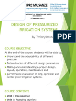Design of Oressurized Irrigation Systems Ppt