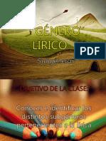 Clase 6 Lírica- Subgéneros Líricos