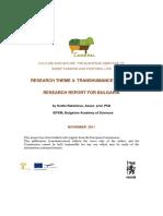 Transhumance National Report Bulgaria
